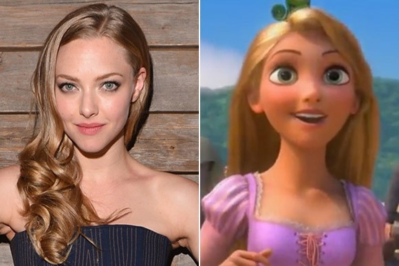 Nét đẹp ngọt ngào cùng mái tóc vàng óng của Amanda Seyfried tựa công chúa tóc dài Rapunzel trong bộ phim hoạt hình Tangled.