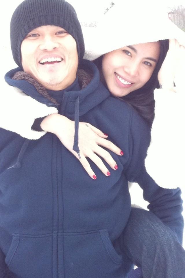 Trong chuyến du lịch sang Nhật thăm Công Vinh, Thủy Tiên đã được chồng đưa đến Hokkaido để ngắm tuyết rơi - Tin sao Viet - Tin tuc sao Viet - Scandal sao Viet - Tin tuc cua Sao - Tin cua Sao