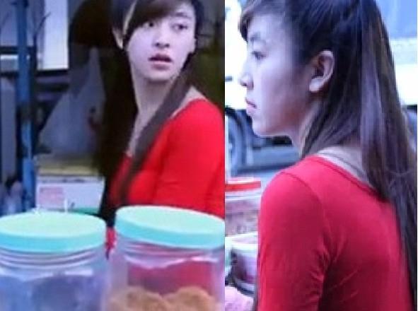 Nổi lên từ clip trên Youtube, cô gái bánh tráng trộn - Lưu Hoài Bảo Chi đã nhận được nhiều tình cảm yêu mến từ cộng đồng mạng. (Ảnh cắt từ clip).