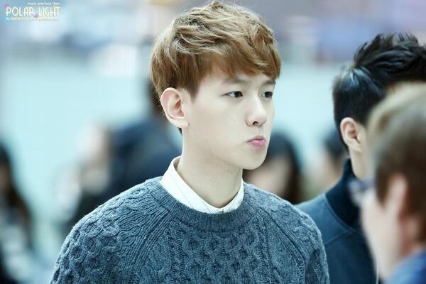 """Baekhyun thường xuyên bị """"tóm"""" những khoảnh khắc """"chu môi"""" đáng yêu."""