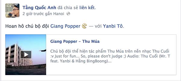 Yanbi và MrT rất thích thú với clip Thu múa