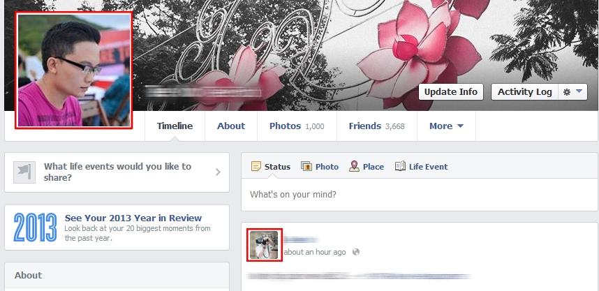 Cách làm xuất hiện 2 ảnh đại diện cùng lúc trên Facebook cực độc