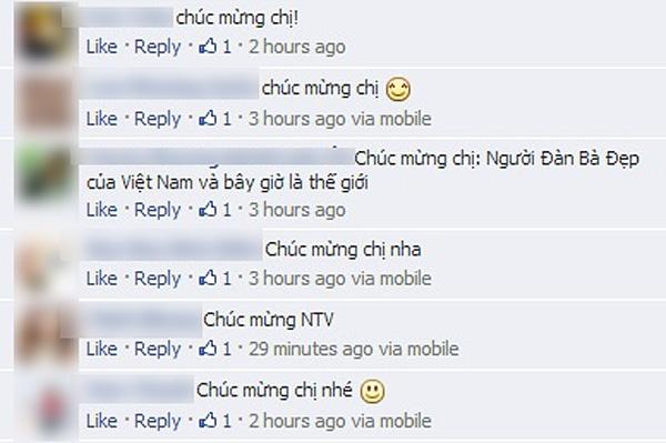 Đả nữ nhận được nhiều lời chúc mừng từ fan. - Tin sao Viet - Tin tuc sao Viet - Scandal sao Viet - Tin tuc cua Sao - Tin cua Sao