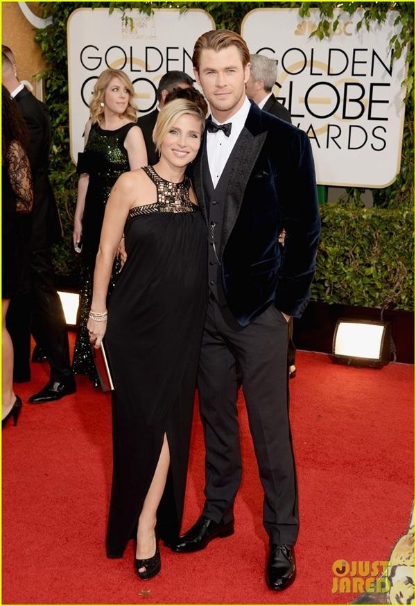 Chris Hemsworth cùng người vợ đang mang thaiElsa Pataky đã có mặt trên thảm đỏ. Nam diễn viên này đã có được 2 đề cử.