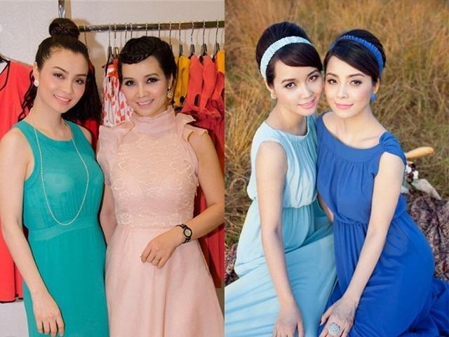 Hai chị em gái Mai Thu Huyền - Mai Thu Trang có nhan sắc không ai kém ai.