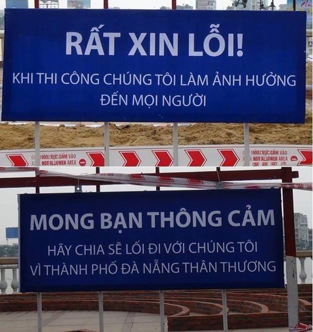 Những biển báo khi nhìn qua tưởng rất đơn giản, nhưng không phải địa phương nào cũng có lòng như thành phố Đà Nẵng khi bắt tay vào thực hiện.
