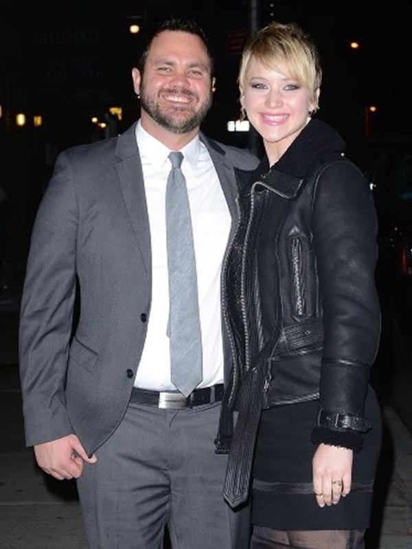 Jennifer Lawrence và anh trai Ben.