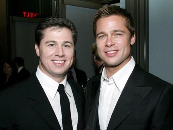 Brad Pitt và em trai Doug.