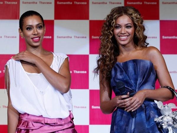 Beyoncé và em gái Solange.