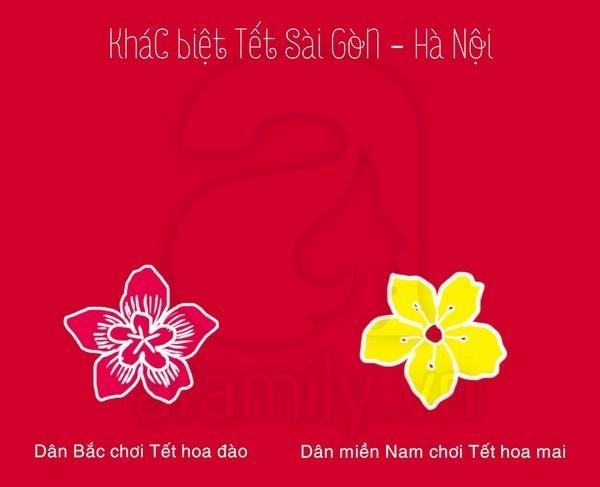 Thú vị khác biệt Tết Hà Nội - Tết Sài Gòn