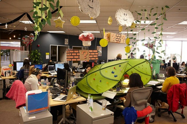 Một góc văn phòng làm việc của Facebook