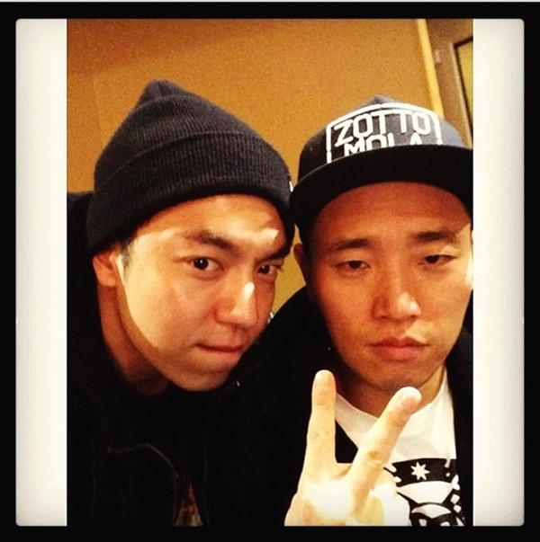 Nhà sản xuất David Kim chia sẻ bức ảnh cùng Gary chúc mừng album mới của anh ấy và hi vọng album sắp tới.