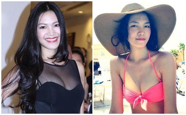 Hoa hậu Thùy Dung là người đẹp hiếm hoi có khuôn ngực hấp dẫn tự nhiên. Cô có số đo 3 vòng là 86 - 61,5 - 91cm cùng chiều cao ấn tượng 1m82.
