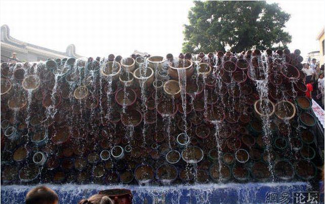 Thác nước bồn cầu độc đáo ở Trung Hoa
