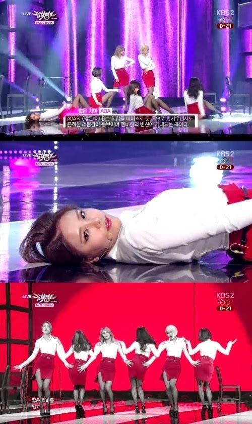 AOA cũng phải thay đổi phong cách sang sexy khiến fan tiếc nuối.