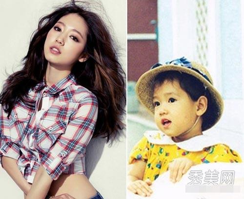 Park Shin Hye hồi nhỏ bụ bẫm, dễ thương