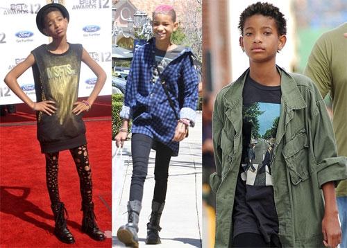 Con gái 13 tuổi của tài tử Will Smith - Willow Smith - từ bé đã phát huy lối ăn mặc đậm chất con trai.