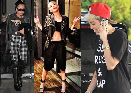 Miley Cyrus gia nhập đội ngũ các cô nàng tomboy kể từ khi cắt tóc.