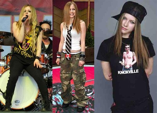Hình ảnh tomboy của Avril Lavigne.
