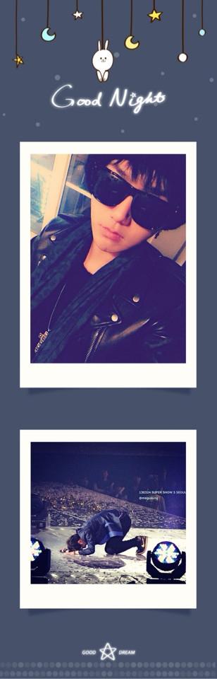 """Yesung (Super Junior) đăng tải hình ảnh chúc mọi người ngủ ngon kèm lời nhắn: """"Tôi hạnh phúc hơn mỗi ngày"""""""