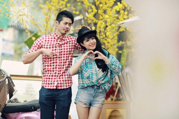 """Thái Trinh gửi tặng đến khán giả yêu mến mình những hình ảnh cực đáng yêu của """"Cặp đôi mùa Xuân"""""""