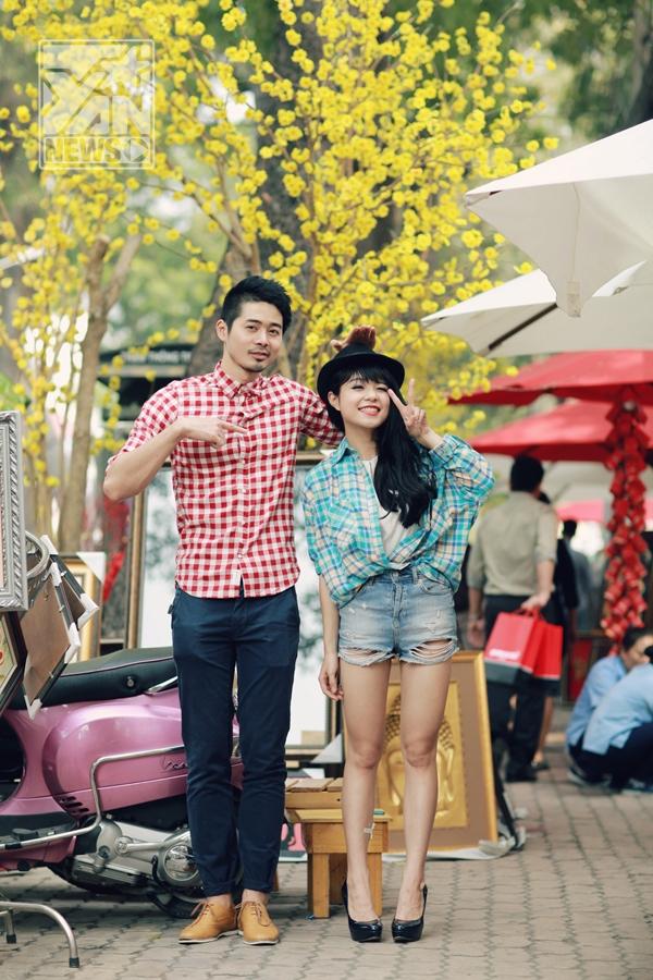 """""""Người tình"""" mùa Xuân này cũng sẽ là bạn diễn xuất hiện trong 2 MV sắp ra mắt của cô.   Thái Trinh đã giảm 10kg và chấp nhận im tiếng trong suốt năm 2013 để có sự lột xác ngoạn mục về ngoại hình."""