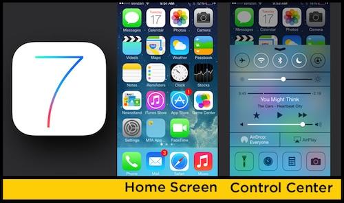 Hệ điều hành iOS 7 trên iPhone.