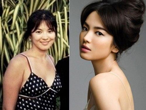 Khi mới gia nhập làng giải trí, Song Hye Kyo cũng rất mũm mĩm.