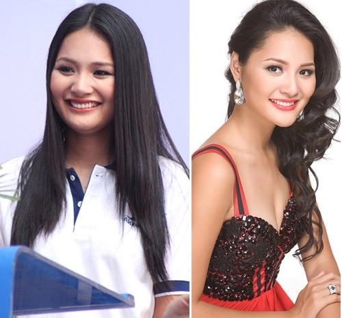 Người đẹp Hương Giang có nụ cười rất xinh nhưng khuôn mặt béo khiến nụ cười không được tỏa sáng.