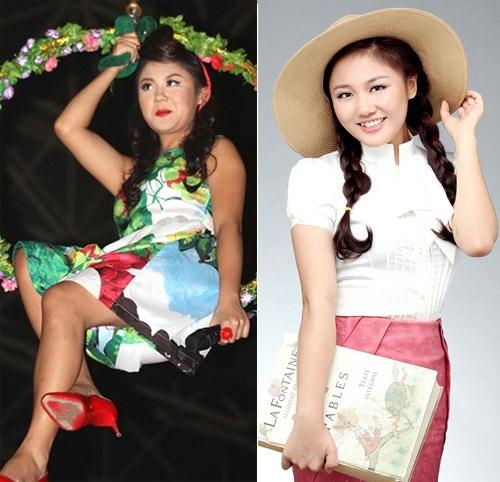 Văn Mai Hương có vẻ đẹp như búp bê nhưng cô có những lúc quá béo, khiến cô trông thấp hơn.