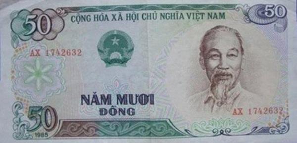 Tiền đồng những năm 1985.