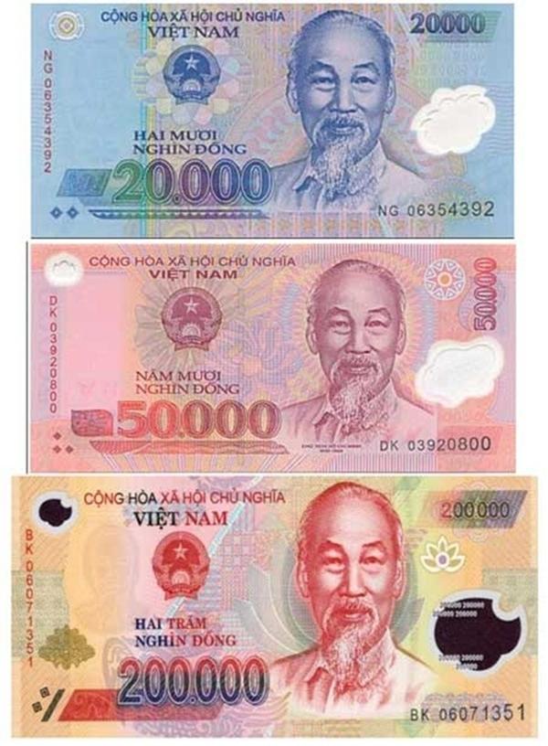 Tiền polymer đang là phương tiện tiền mặt lưu thông chủ yếu tại Việt Nam hiện nay.