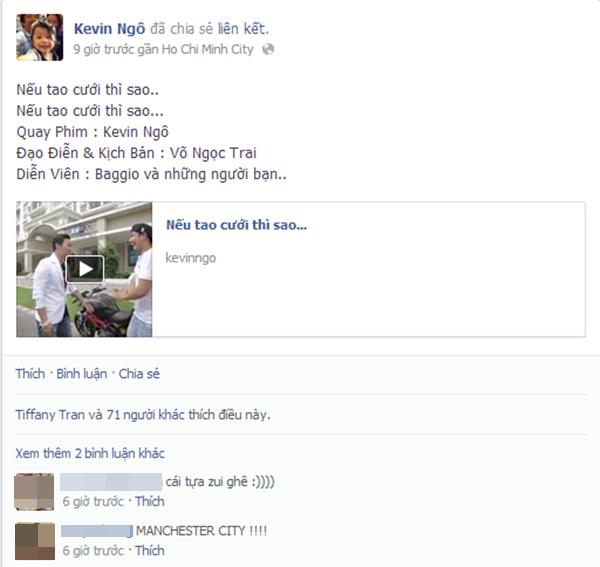 Clip được Baggio, vợ và những người bạn thân chia sẻ trên facebook.