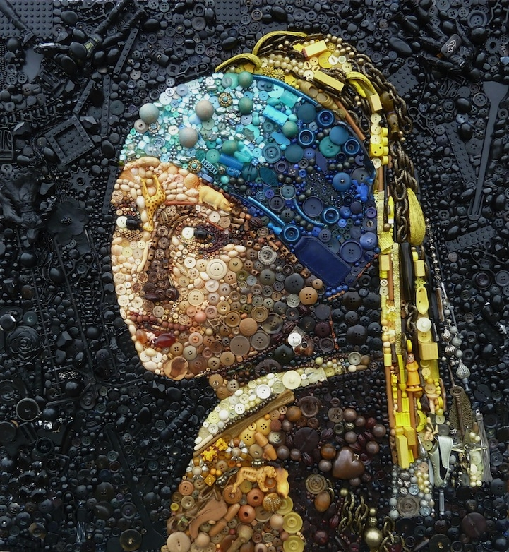 Sững sờ những bức tranh được tạo tác từ những vật bỏ đi