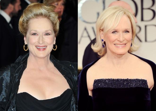 """Meryl Streep từng chia sẻ trên tờ New York Times: """"Tôi thay mặt cho Glenn Close và chính mình xin được nói với những người thường bị nhầm lẫn hai chúng tôi rằng, đừng bị đánh lừa bởi ảo giác nữa. Với Glenn Close, tôi rất ngưỡng mộ và yêu mến các bộ phim của cô ấy"""". - Tin sao Viet - Tin tuc sao Viet - Scandal sao Viet - Tin tuc cua Sao - Tin cua Sao"""
