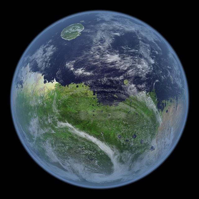 Sao Hỏa sẽ thế này khi vẫn còn có nước