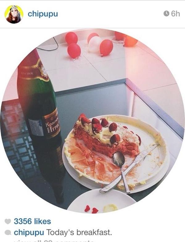 Chi Pu khoe hình ảnh bữa sáng của mình