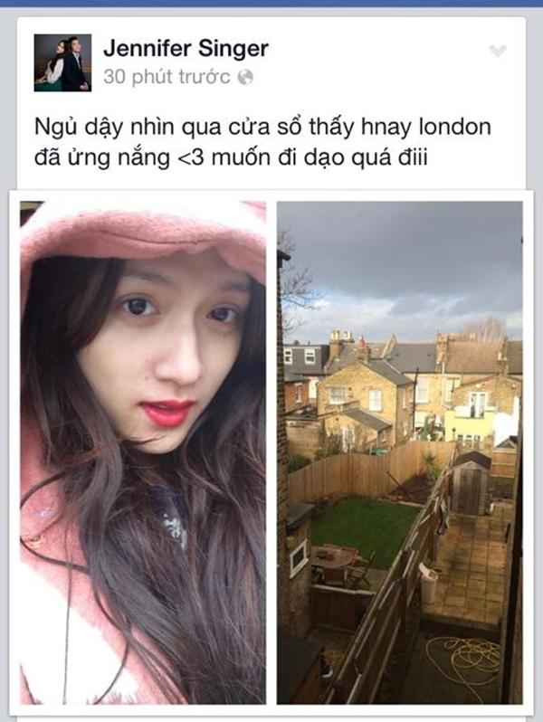 Hương Giang Idol đang tận hưởng vẻ đẹp của Luân Đôn.