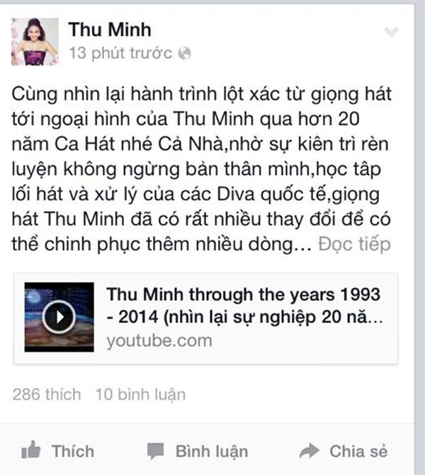 Thu Minh nhìn lại đoạn đường ca hát của cô từ năm 1993 tới nay