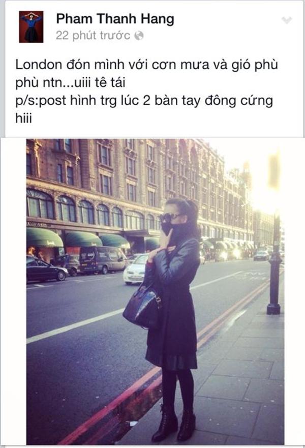Thanh Hằng vừa bước chân tới Luân Đôn