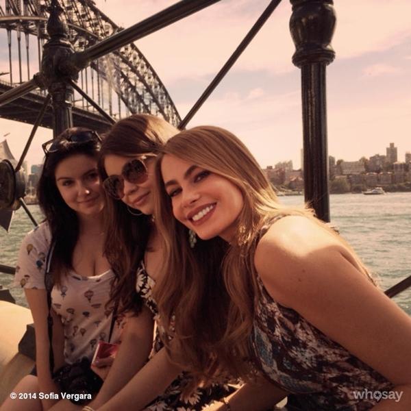 Sofia Vergara tham gia chương trình 'Modern Family ' cho một tour du lịch của New York.