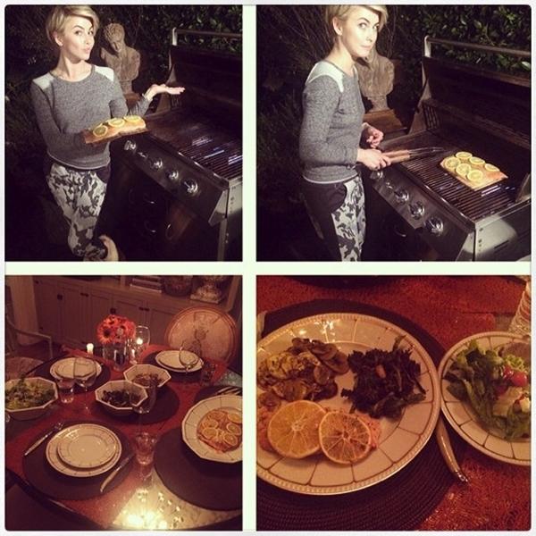 Julianne Hough trổ tài nấu nướng
