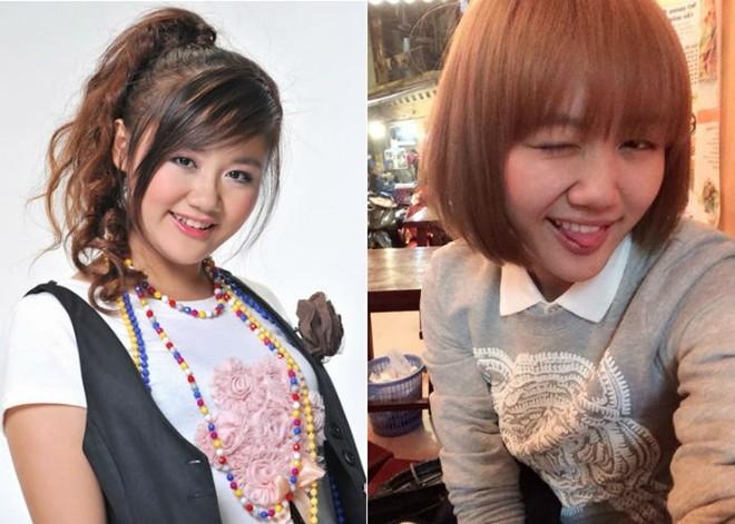 Điều dễ nhận thấy nhất chính là cô ca sĩ 9X cắt bay mái tóc dài, uốn xoăn nữ tính của mình để quay sang kiểu tóc ngắn của Nhật và nhuộm màu vàng cam rực rỡ. - Tin sao Viet - Tin tuc sao Viet - Scandal sao Viet - Tin tuc cua Sao - Tin cua Sao