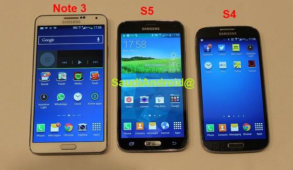 Galaxy S5 so dáng cùng các anh em trong gia đình.