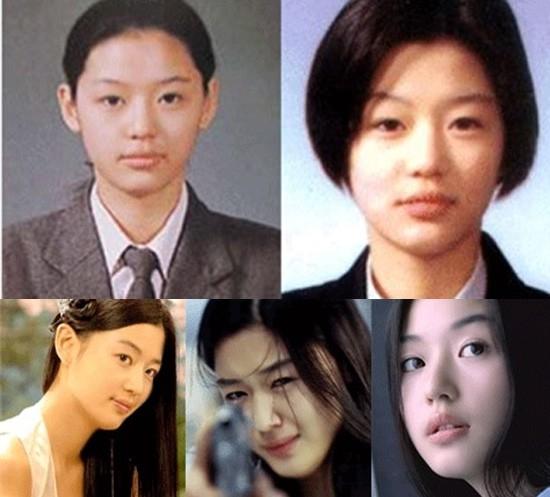 Jun Ji Hyun thời đi học được cho là rất xinh đẹp và được nhiều bạn trai để ý.