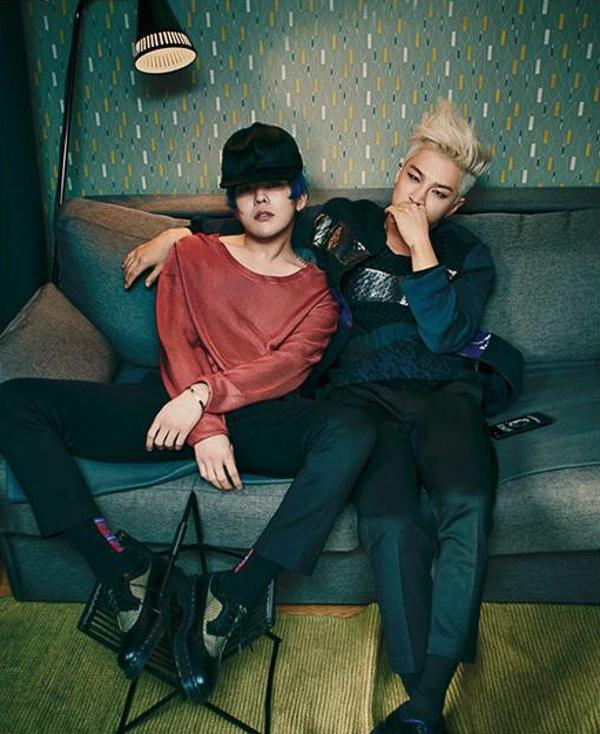 """Taeyang và G-Dragon """"náo loạn"""" tạp chí thời trang Bazaar"""