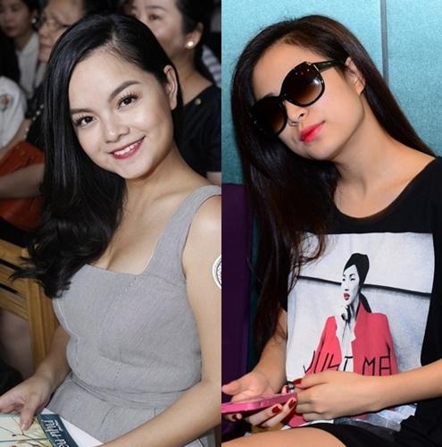 Là đôi bạn thân thiết với nhau, Phạm Quỳnh Anh và Hoàng Thùy Linh khi nhìn nghiêng, nhiều lúc trông rất giống nhau từ kiểu tóc, đến gương mặt bầu bĩnh.
