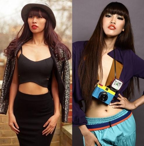 Siêu mẫu Hà Anh và người mẫu Ngọc Khuê đều sở hữu đôi môi vô cùng quyến rũ, đặc biệt khi cả 2 cùng cắt mái tóc ngố như thế này thì nhìn chẳng khác nào giống 2 chị em.