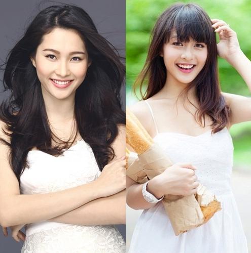 Cả hoa hậu Thu Thảo và hotgirl Khả Ngân đều thu hút bởi vẻ đẹp nữ tính, dịu dàng, đặc biệt là nụ cười vô cùng rạng rỡ.