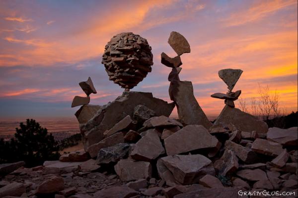 Những ngọn núi có nhiều đá cũng là nơi tạo ra những tác phẩm kinh điển